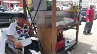 En plena vía pública velan restos de persona en Tegucigalpa