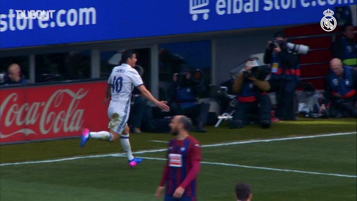 James Rodríguez Nets First Real Madrid Goal vs Eibar