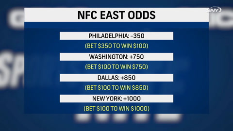 What are the odds the Giants win the NFC East after their recent win over Washington?