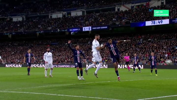 Champions League: Real Madrid - PSG. Gol de Karim Benzema (2-0)