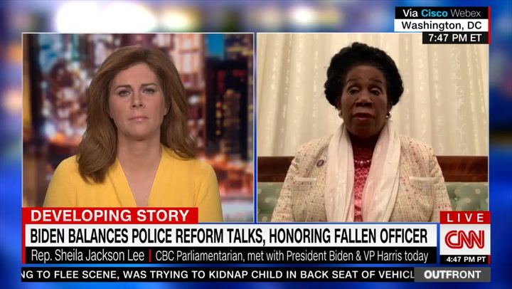 Jackson Lee on Tlaib's Call for 'No More Policing': Congress 'Is a Big Tent'