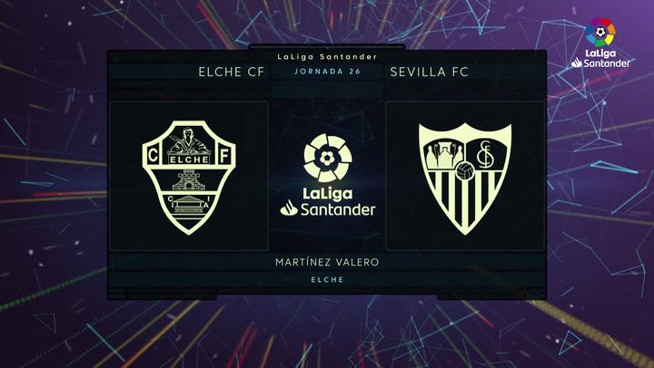 LaLiga (J26): Resumen y goles del Elche 2-1 Sevilla
