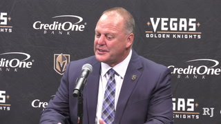 Gerard Gallant talks following the Knights' win over the St. Louis Blues