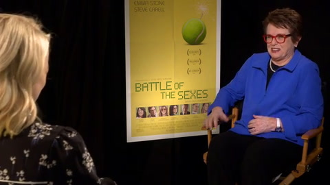Billie Jean King asks Emma Stone how she prepared for role of Billie Jean King