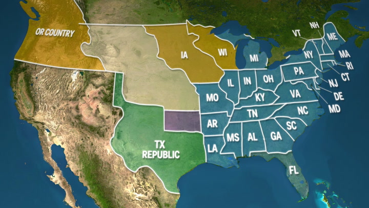 Animated map of US border changes Business Insider