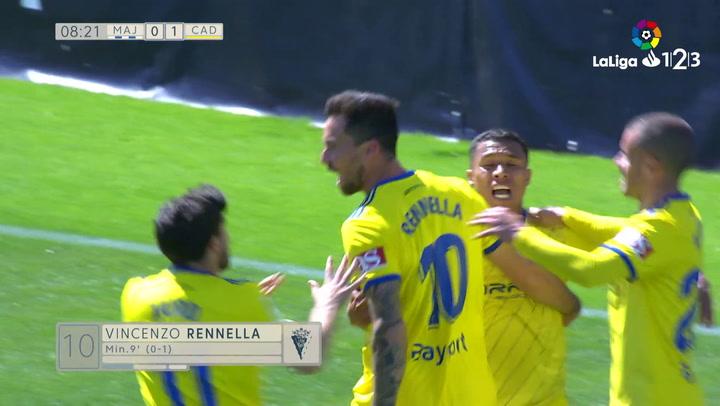 LaLiga 123: Rayo Majadahonda - Cádiz. Gol del Cádiz (0-1)