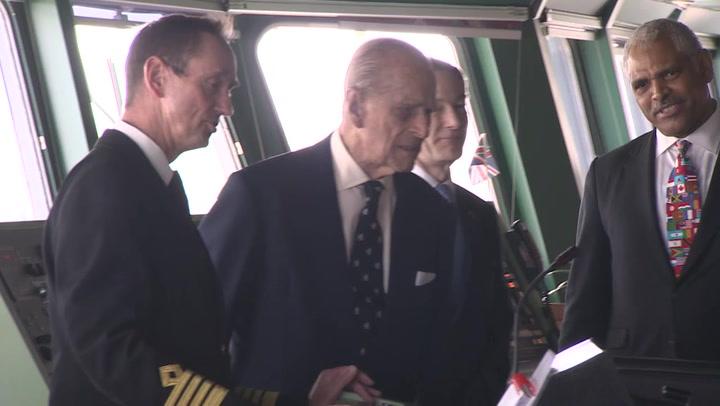 HRH Prince Phillip Visits Cunard's Fleet