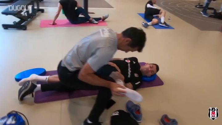 Besiktas Players Complete Gym Workout