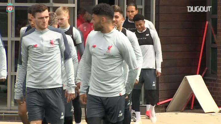 Liverpool Train Ahead Of FC Barcelona Clash