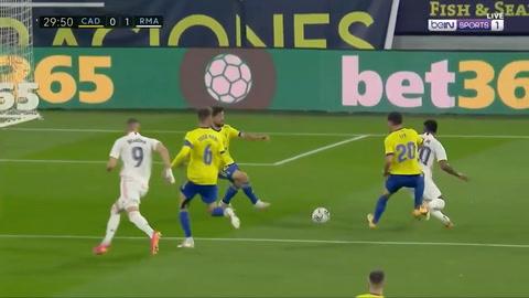 Cádiz 0-3 Real Madrid (Liga de España
