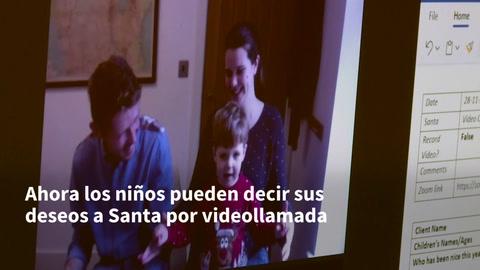 Santa Claus recibe videollamadas siguiendo las reglas de la pandemia