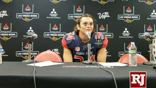 Fresno State linebacker George Helmuth after LV Bowl