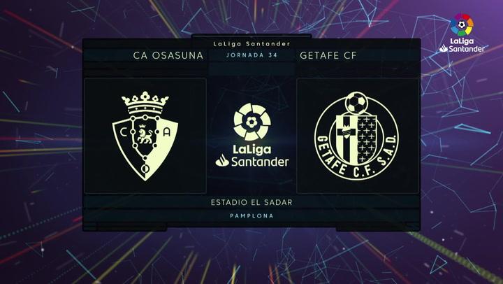 LaLiga (J34): Resumen del Osasuna 0-0 Getafe
