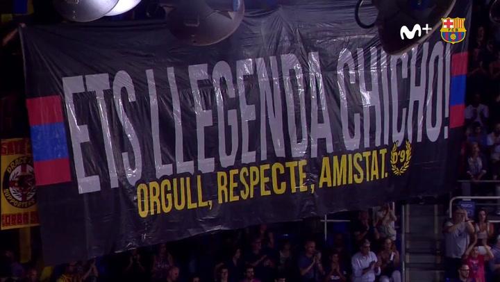 El emotivo homenaje a 'Chicho' Sibilio antes del Barça - Baskonia