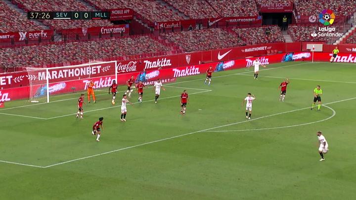 Gol de Ocampos (1-0) en el Sevilla 2-0 Mallorca