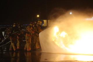 Backus Fire Department propane fire training