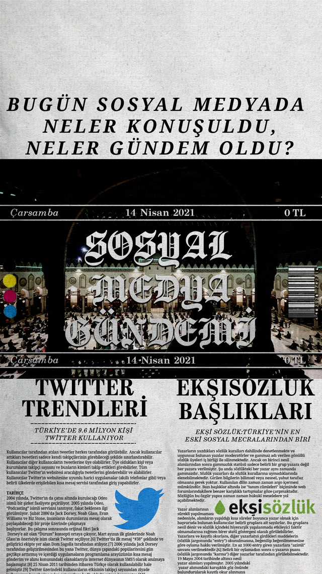 Sosyal medyayı sallayanlar - 14 Nisan