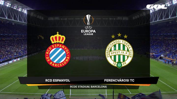 Europa League Resumen y Goles del Partido Espanyol-Ferencvaros