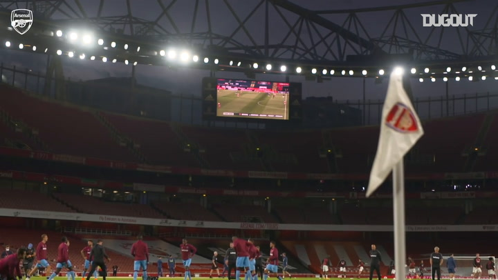 Behind the scenes as Arsenal beat West Ham - Dugout