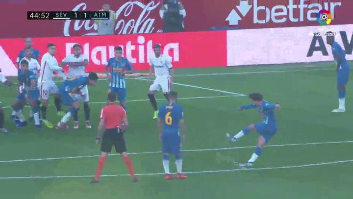 LaLiga: Sevilla-Atlético. Gol de Griezmann (2-0)