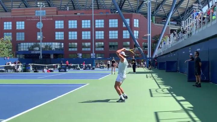 Rafa Nadal ha entrenado duro antes de afrontar un nuevo US Open