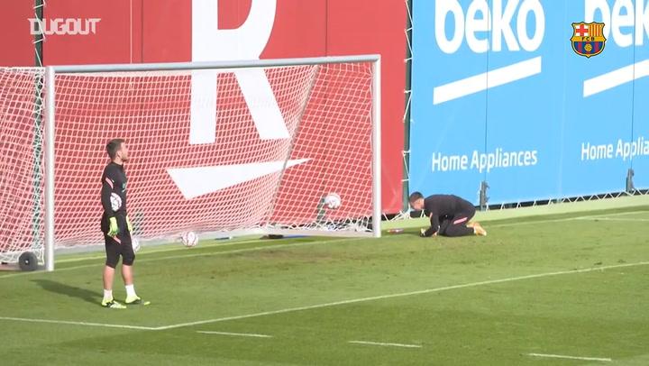 Última sesión previa al partido contra el Ferenváros