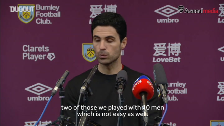 Arteta praises Mustafi's courage after Burnley draw