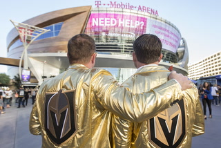Golden Knights Fans Fired Up for Opening Night