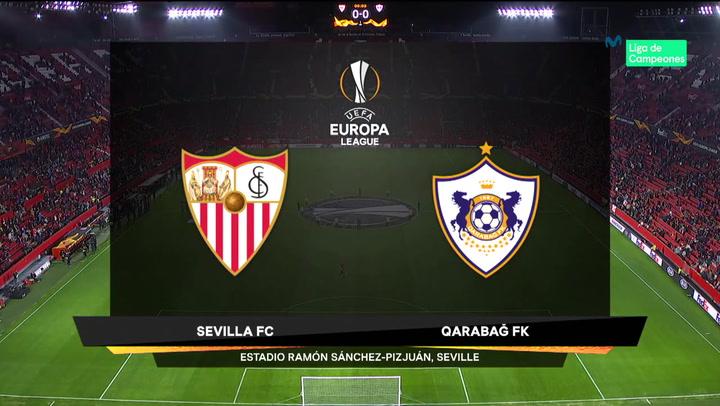 Europa League Resumen y Goles del Sevilla-Qarabag