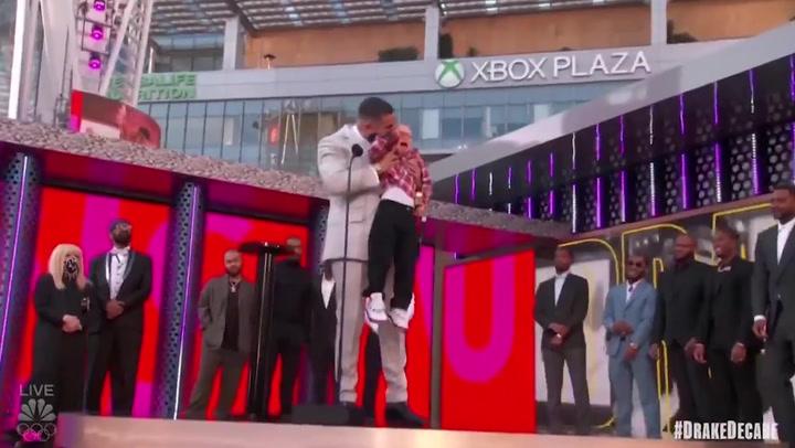 Drake's son breaks down in tears at Billboard Awards