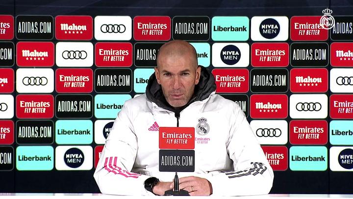"""Zidane """"Si hacemos las cosas juntos y concentrados somos muy difíciles de ganar"""