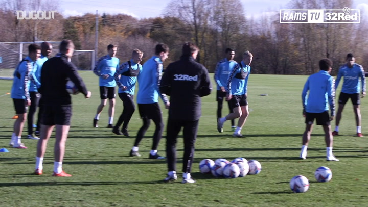 Rooney in Derby County training ahead of Bristol City clash