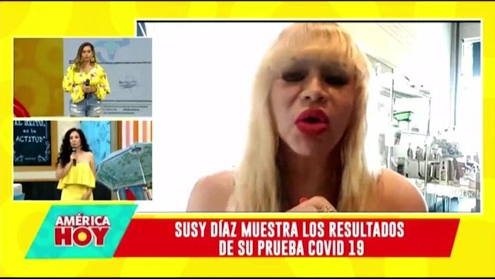 Susy Díaz presentó prueba de COVID-19 tras acudir a fiesta de cumpleaños durante cuarentena