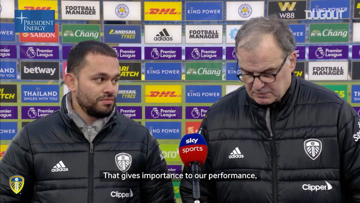 Bielsa on victory against Leicester and Bamford's unselfish assist
