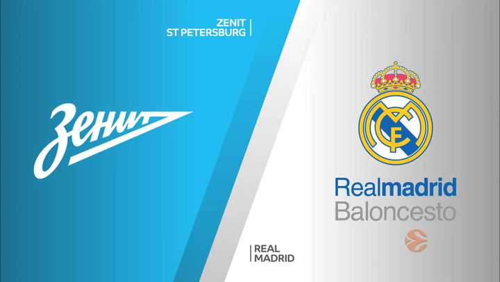 Euroliga: Zenit St Petersburg - Real Madrid