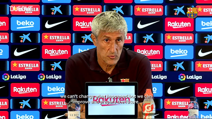 Quique Setien: 'Of course we can win the Champions League'