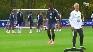 El fabuloso gesto técnico de Paul Pogba en el entrenamiento de Francia