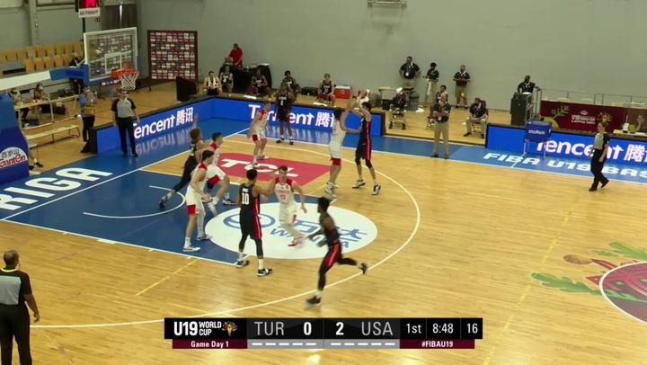 USA Men's U19 Highlights vs. Turkey