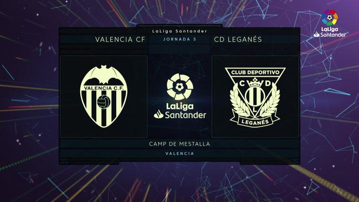 LaLiga (J5): Resumen y goles del Valencia 1-1 Leganés