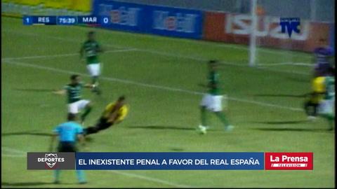 El inexistente penal a favor del Real España ante Marathón