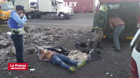 Accidente de tránsito deja una persona fallecida en Yojoa