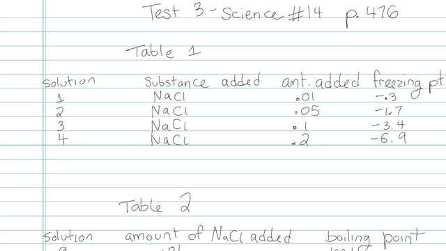 Test 3 - Science - Question 14