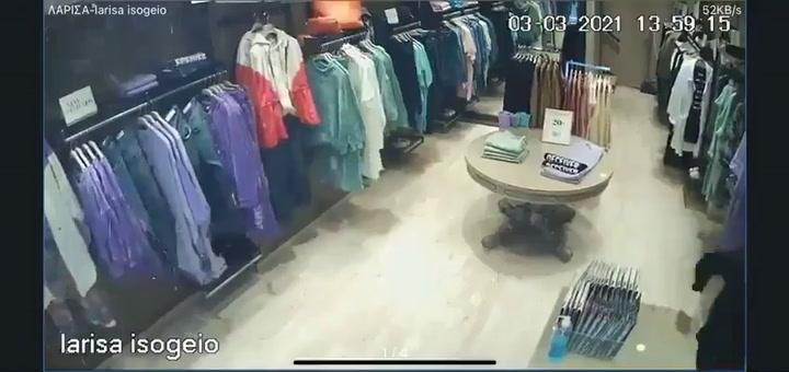 Una cámara en una tienda de ropa capta el momento del terremoto de Grecia