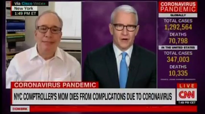 NYC Official Whose Mother Died of Coronavirus: Trump 'Has My Mom's Blood on His Hands'