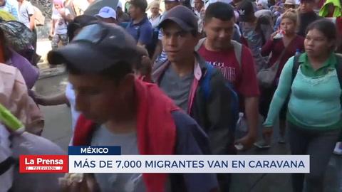 Más de 7,000 migrantes van en caravana