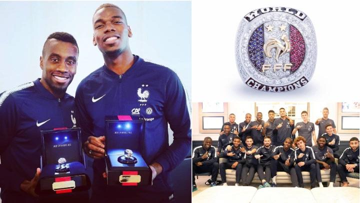 Así son los anillos de campeón que ha regalado Pogba a sus compañeros de Francia
