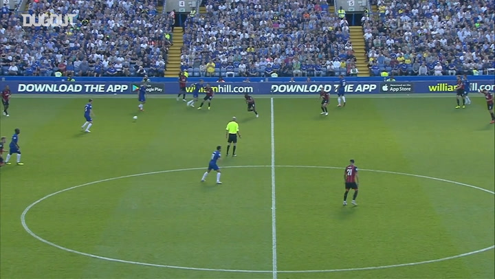Pedro expertly finishes Chelsea team goal vs Bournemouth