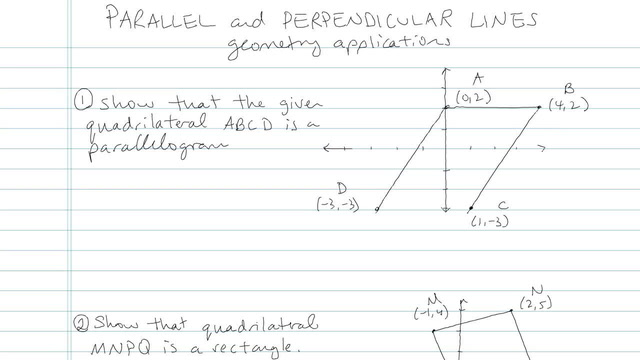 Parallel and Perpendicular Lines - Problem 4