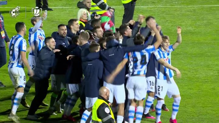 Resumen del Mirandés - Real Sociedad (0-1) de Semifinales de la Copa