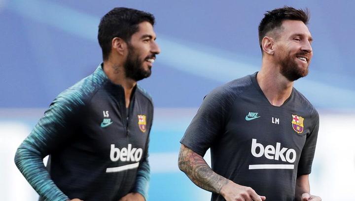 Los jugadores del Barça se dirigen al Estadio para medirse al Bayern